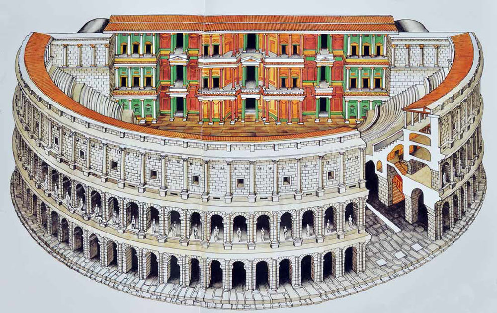 Theater of Marcellus, Reconstruction