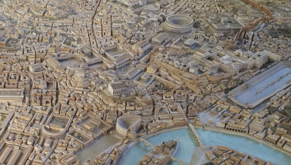 Model of Rome with Theaters of Marcellus and Pompey