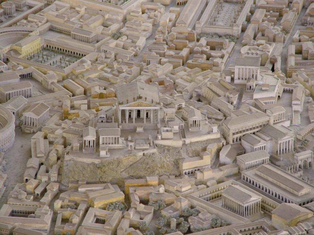 Model of Rome with Temple of Jupiter Capitolinus or Optimus Maximus