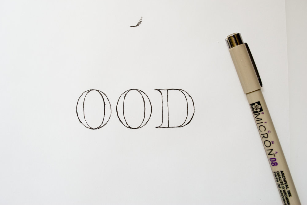 hand lettering sketchbook drawing