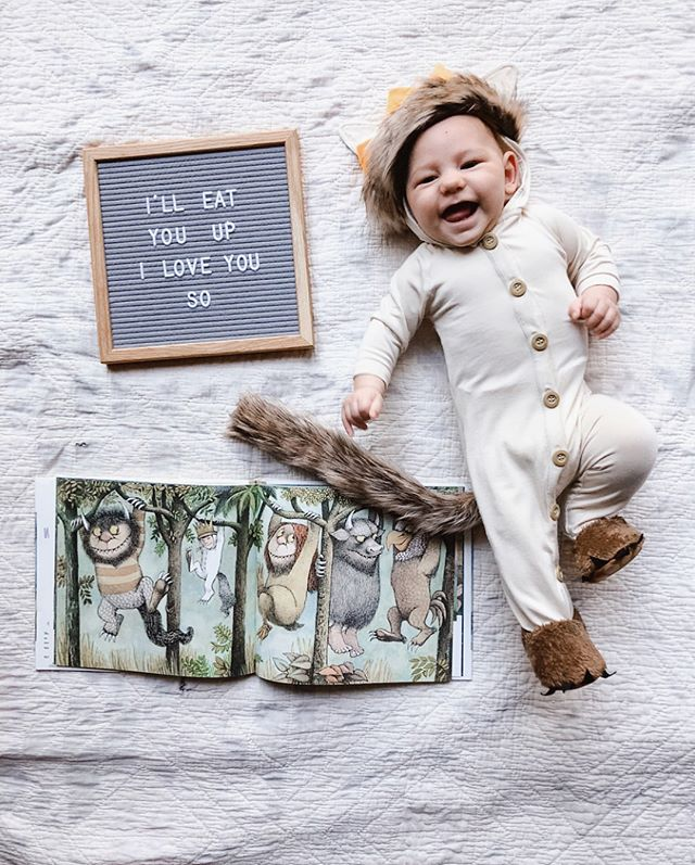 I know Max is totally cliche, just can't help it lol Happy Halloween! 🎃👻 I promise I'll stop with the baby cuteness overload as soon as I make some new art 😉😂😁 Baby romper: @katequinn_organics . . . #berenolian #berenthebrave #max #wherethewildthingsare #halloweencostume #babyhalloweencostume #happyhalloween #wildthing #themostwildthingofall