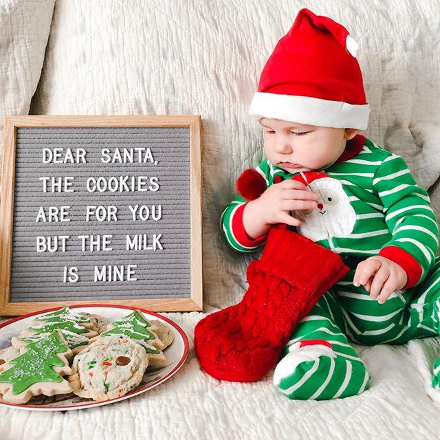 Well maybe 😌🍪🎄🎅🏻😉 #berenolian #berenthebrave #babysfirstchristmas #santascookies #milkandcookies