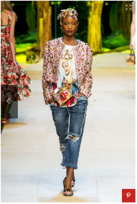 D&G Spring '17... Love how this look is styled... gorgeous little jacket too!