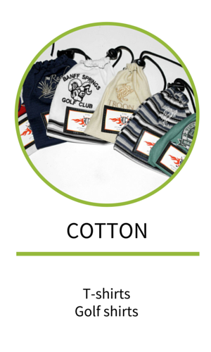 Branded giveaways made from recycled cotton t-shirts