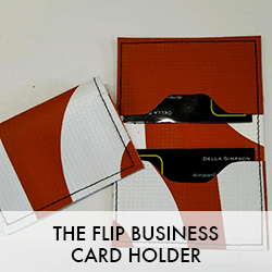 Flip Business Card Holder