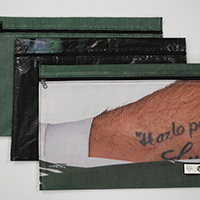 Document cases made from repurposed Portland Timbers banners