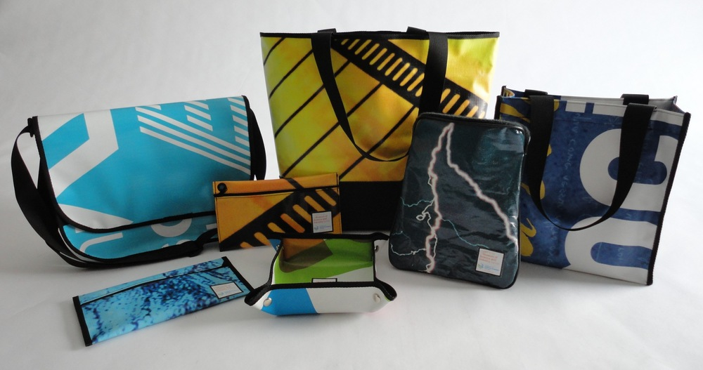 Upclcyed Relan bags for the Museum of Science and Industry, Chicago