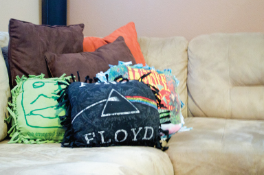 Pillows made from old t-shirts
