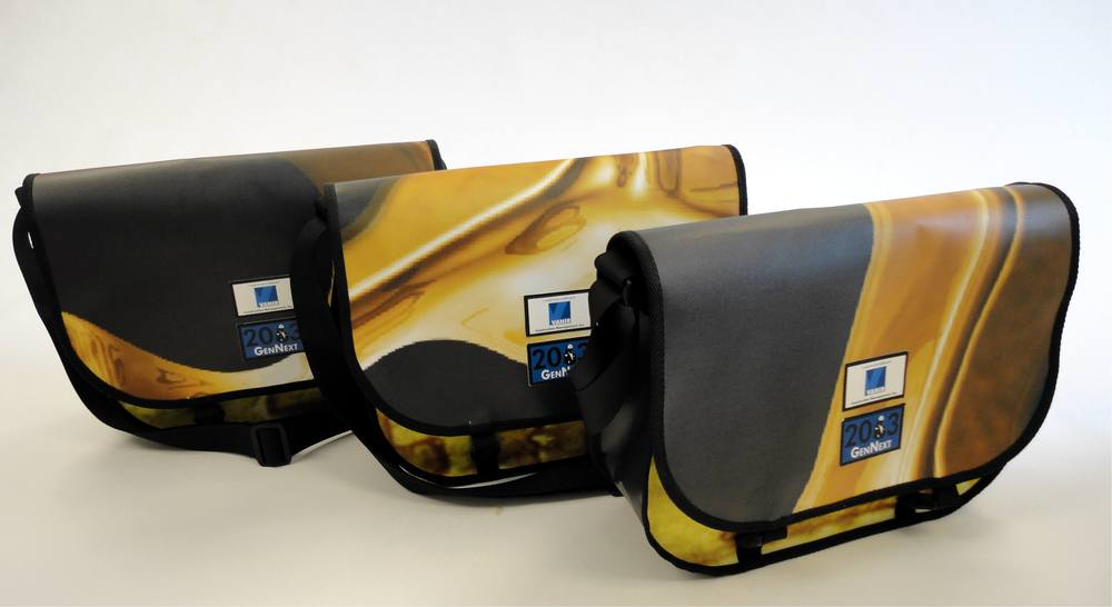 Messenger Bags made from repurposed billboards and banners