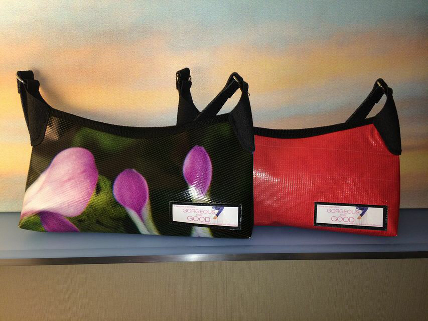 Durable, sustainable purses made from recycled banners