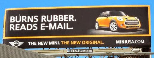 MINI Cooper billboard
