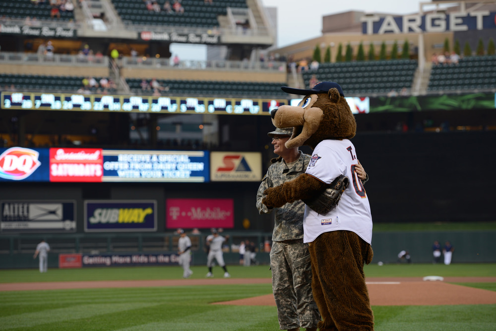 The Minnesota National Guard recognized at Target Field
