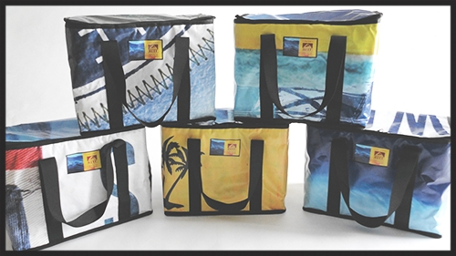 Insulated, branded cooler for holiday gifts