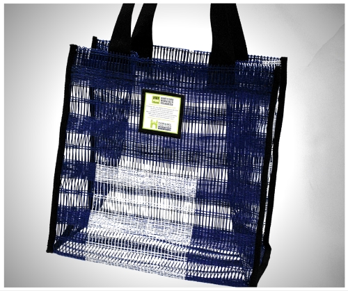 Bags made from recycled Eversource Hartford Marathon finish line