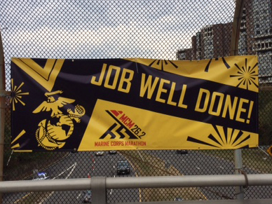 This banner says it all: Job well done, MCM finishers!