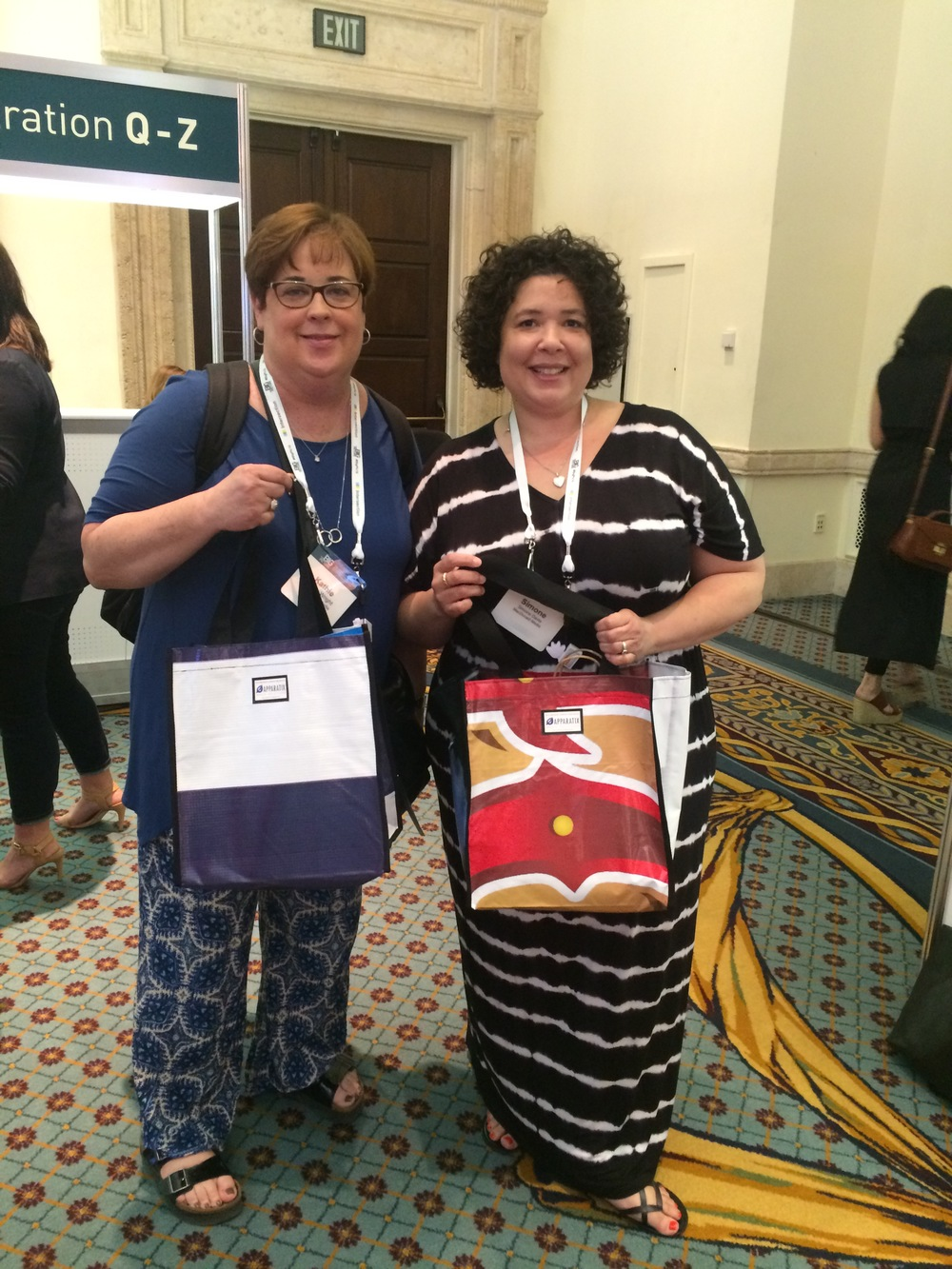 Attendees with their Relan bags