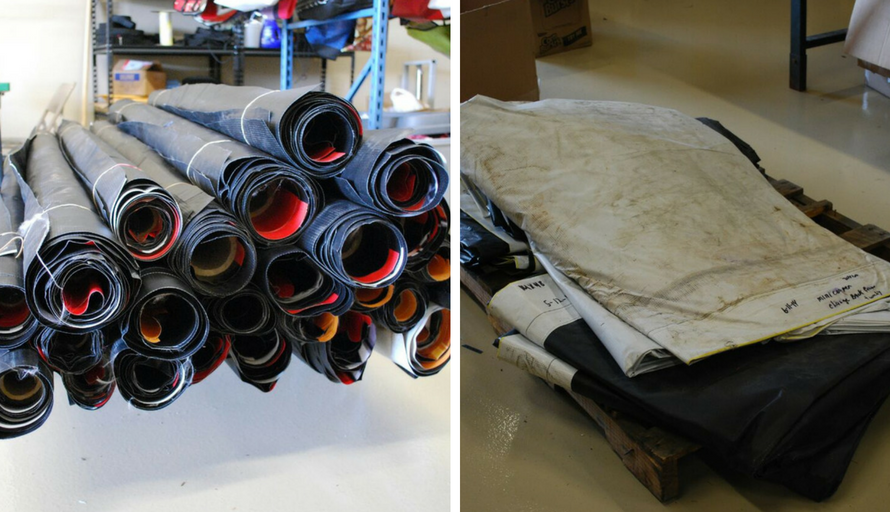 repurposing vinyl banners shipping info