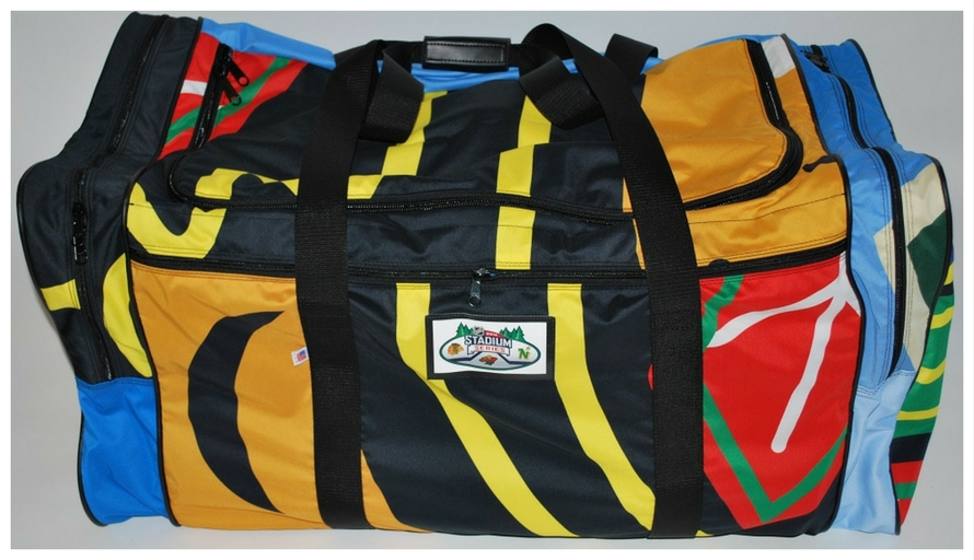 Minnesota Wild recycled hockey banner bag