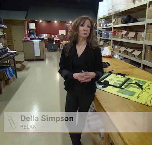 Della Simpson Relan CEO recycling banners