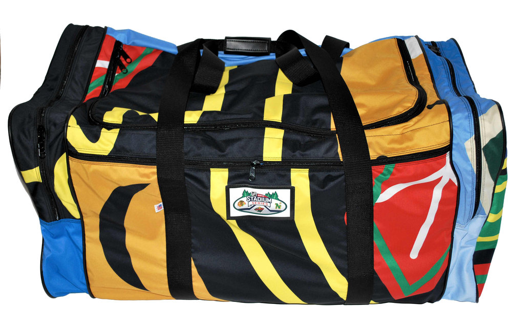 Portland Timbers Stand Together bags made from upcycled banners
