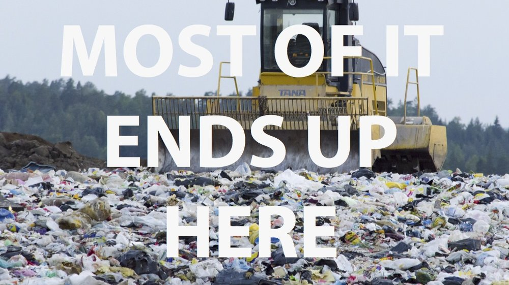 vinyl typically goes to the landfill since it is not recyclable