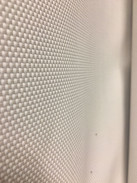 Close up view of the mesh blind