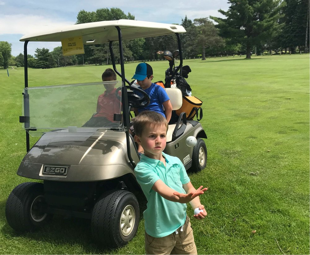 Small Cooler on Golf Cart.jpg