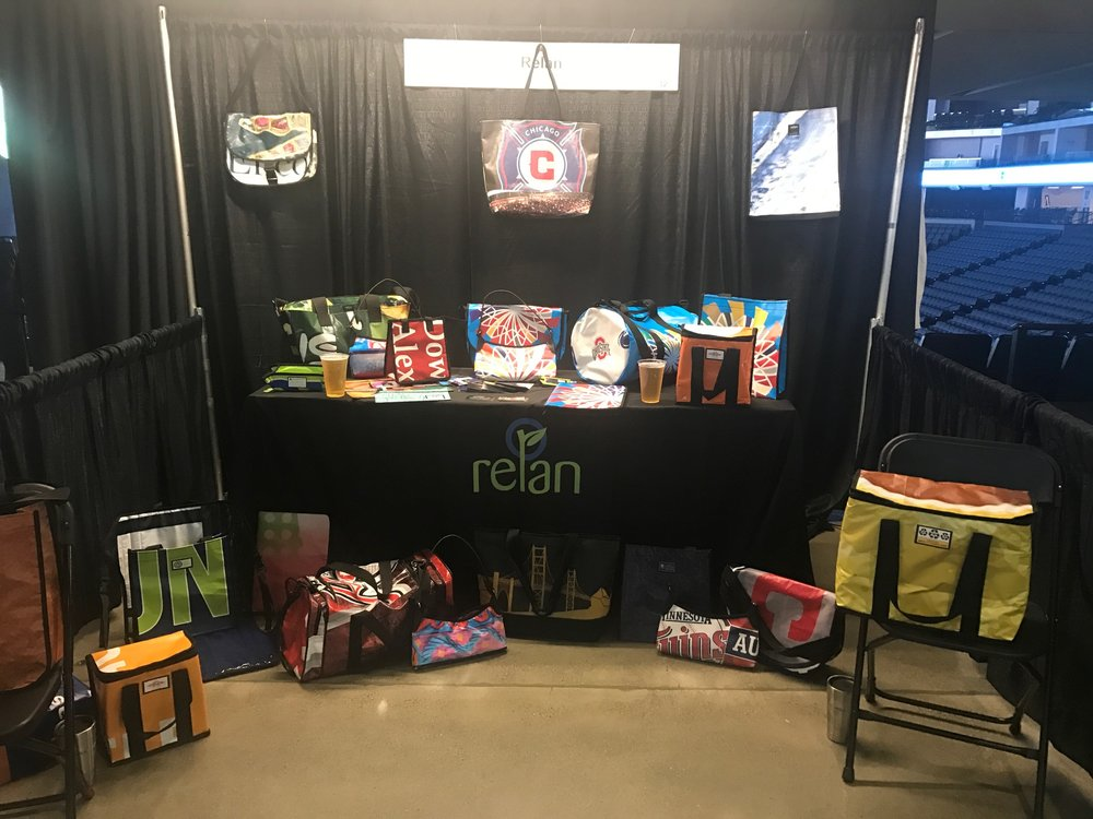 relan booth at green sports alliance summit 2017