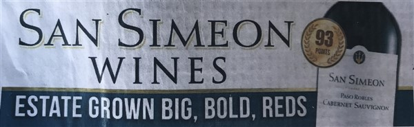 san simeon wines billboard