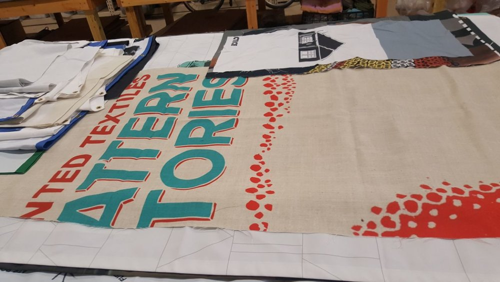 One of the banners before it was repurposed