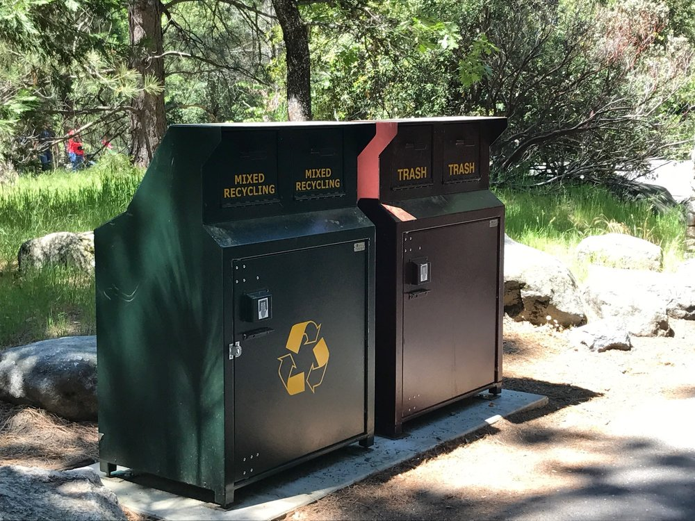 recycle bins yosemite national park