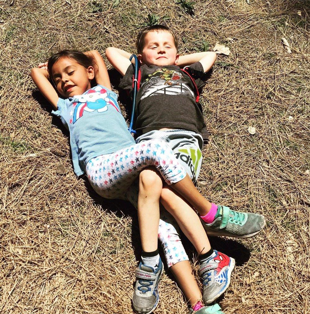 kids camping in yosemite national park