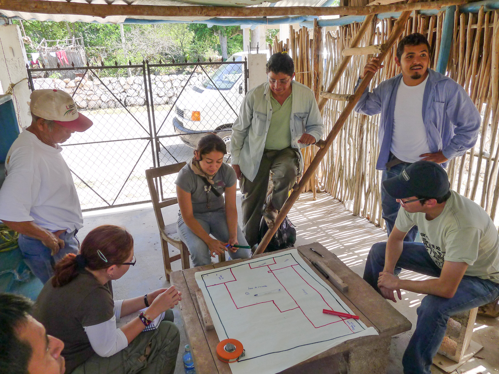 "Garden mapping using a ""micro-zonation"" methodology to assess the relative importance  of different elements of an agroecosystem  to a household. This was a pilot project for the Autonomous University of Yucatan."