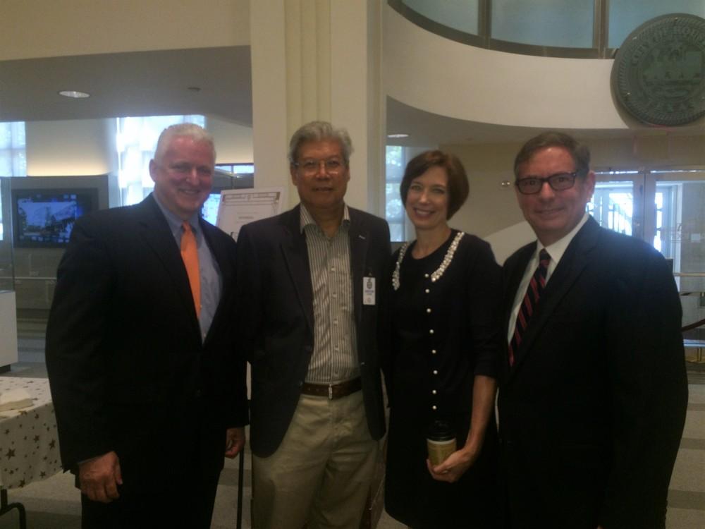 Tim Crockett, Herbert Yuan, Charlene Heydinger, Paul Knudson.