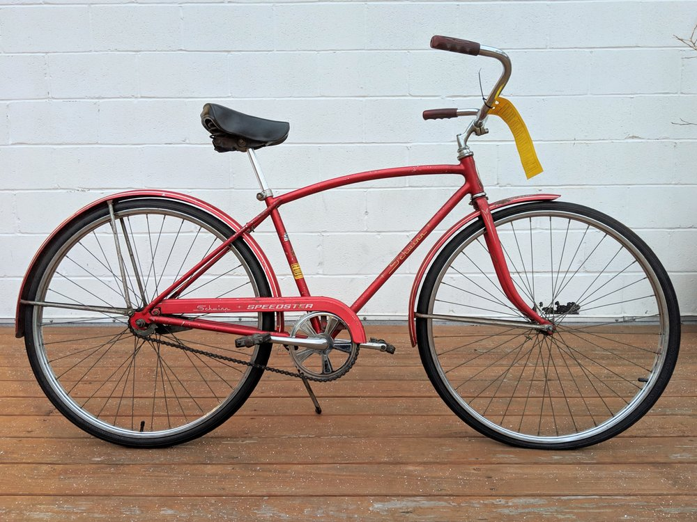 44cm Candy Red Schwinn Speedster Single Speed $200