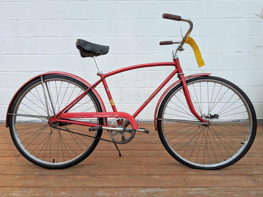 44cm Candy Red Schwinn Speedster Single Speed $200