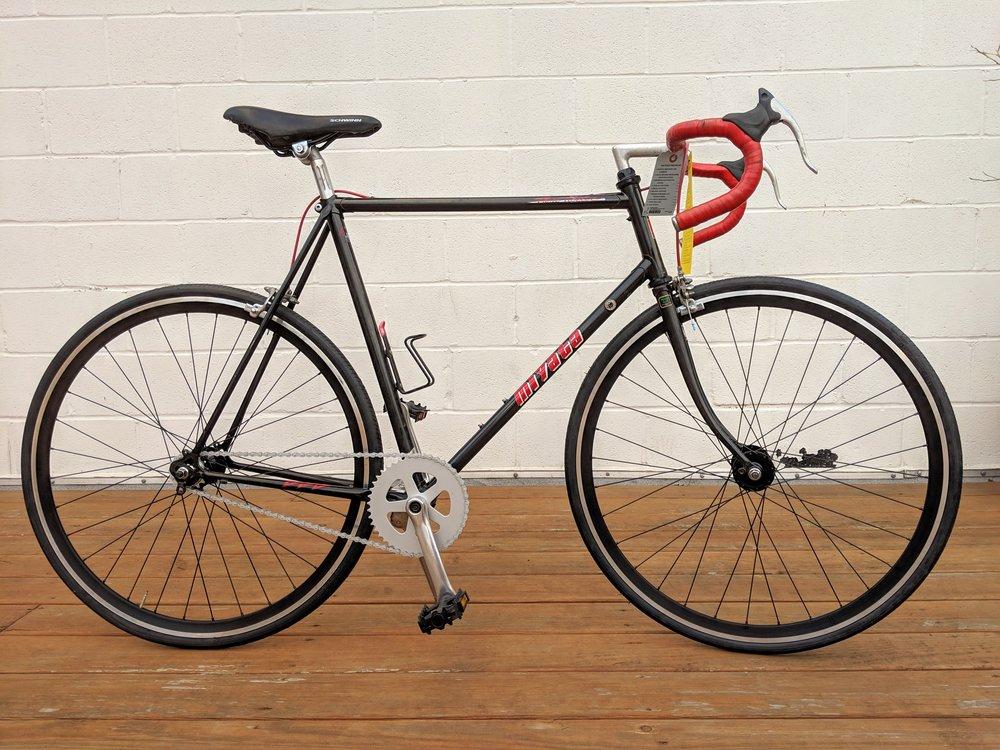 58cm Black Miyata Three Twelve Single Speed $350