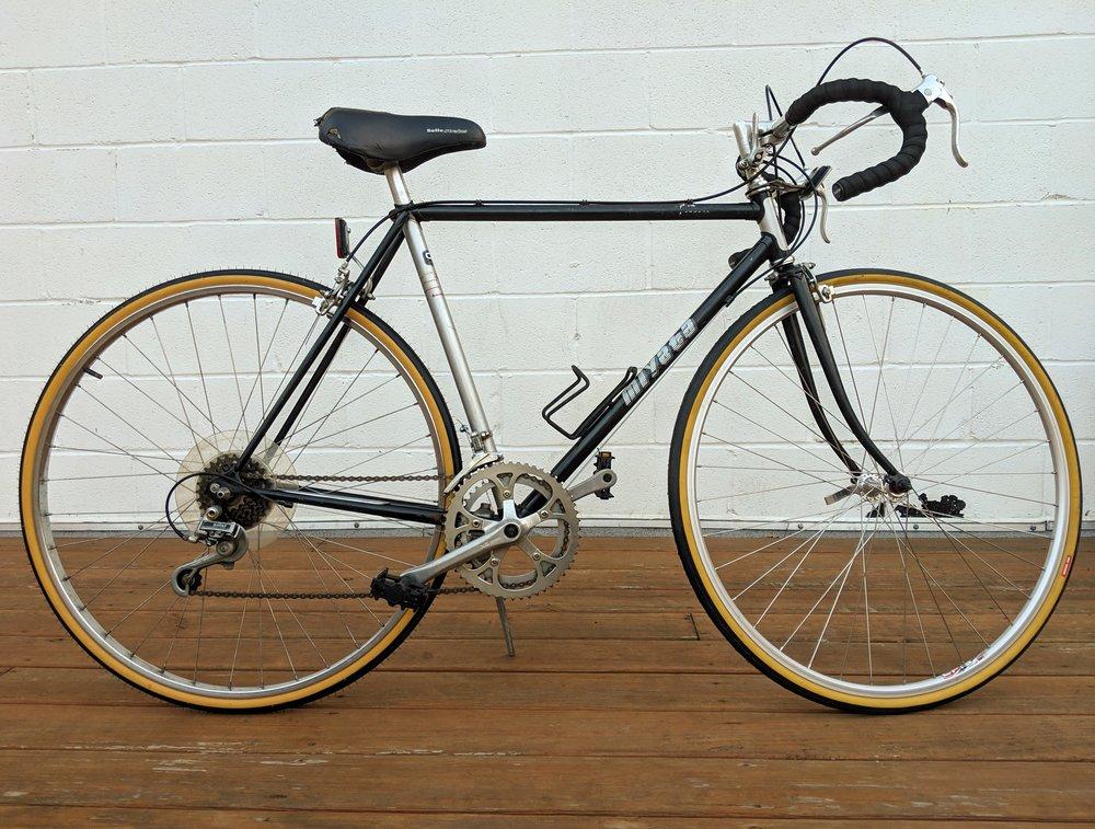 54cm Black and Silver Miyata