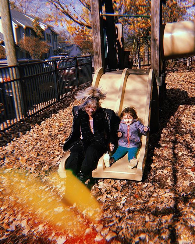 TGIF 💃🎉 (aka my feelings towards the current day of the week as represented through this photo of Willow and her Gigi living it up at the playground.)