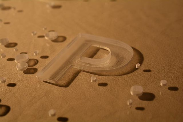 Acrylic letter cutting On the CNC.