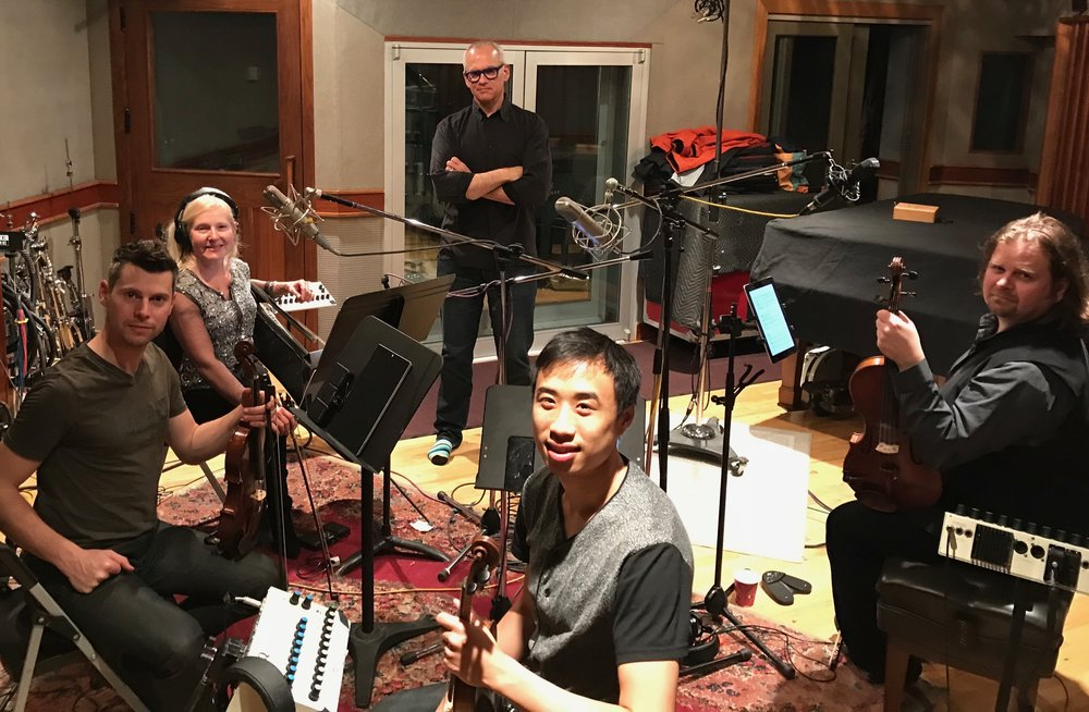 Laurence with ETHEL Quartet