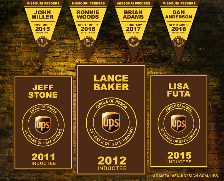 UPS Circle of Honor Banners