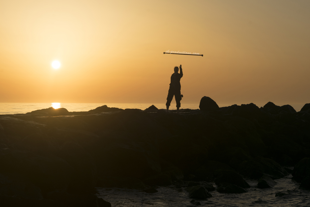 My friend flipping his staff. I used my Neewer® Variable ND filter for this shot to prevent my image sensor from turning into lava