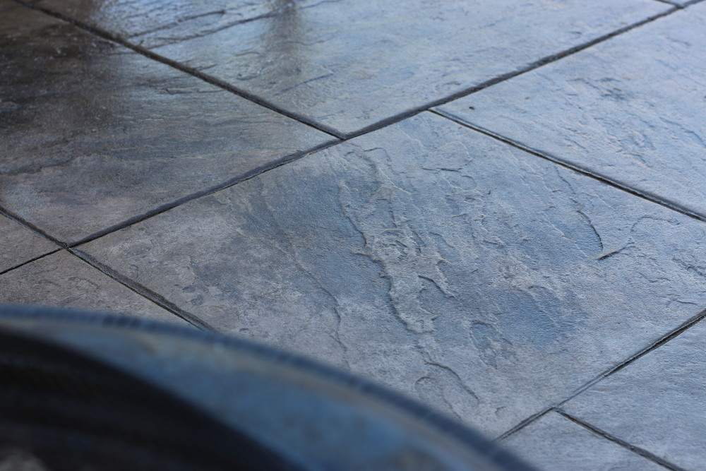 Stamped Concrete Patio, Smooth