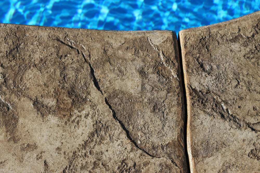 Stamped Concrete by Pool