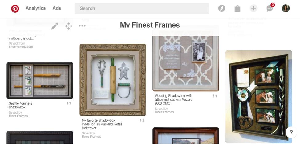 Examples of Inspired Frame Design by Meg Glasgow