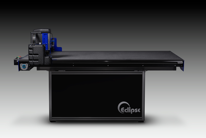 "2016 - Wizard's next generation production-optimized CMC, the Eclipse™ Flex, with full vacuum table and cutting speeds of up to 40"" per second is introduced."