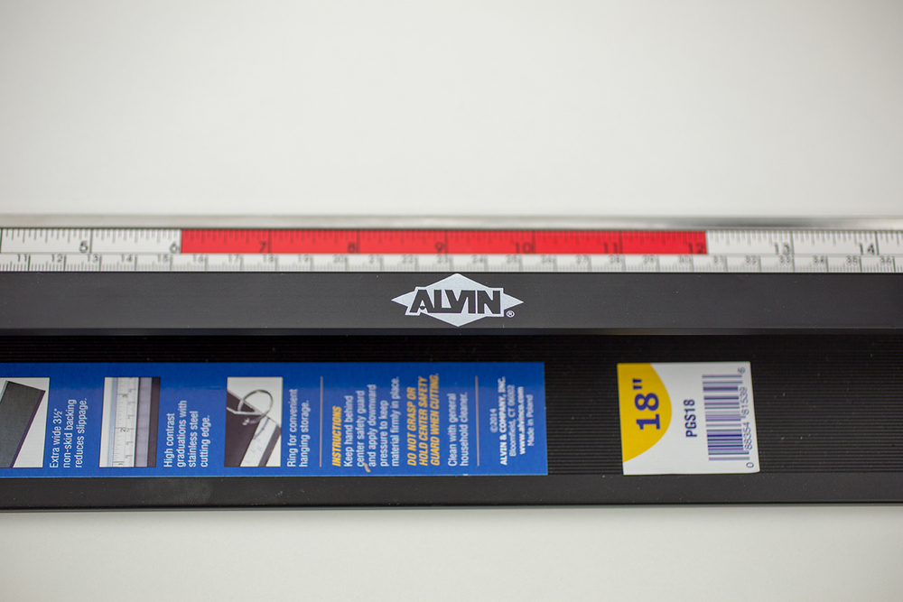 "Alvin® Safe-T-Cut 18"" Premium Cutting Straightedge Item No. PGS18"