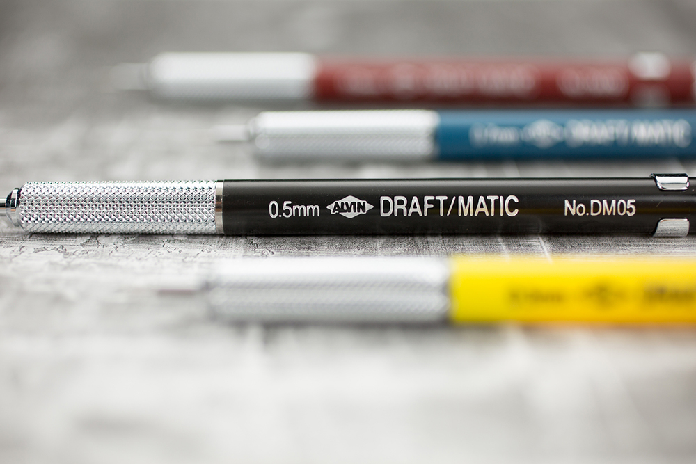 Alvin® Draft-Matic Mechanical Pencils Item No. DM03 DM05 DM07 & DM09