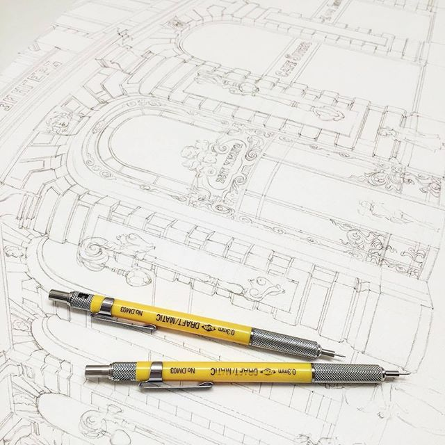 #Repost from @melibertine . Uh... 🙄 there are many details... Progress... Arches paper, 300 g, grain fin . . . #alvindrafting #draftingtools #drafting #draft #draw #drawing #drawingtools #architect #architecture #architecturestudent #architecturedrawing #architecturedesign #architecturesketch #render #rendering #architecturerendering #sketch #sketching #sketchingtools #sketchbook #art #artist #architectural #architectsofinstagram #design #designer #architecturestudent